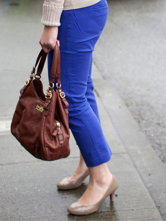 Banana Republic sweater | LOFT pants | Merona pumps | Coach purse | www.shoppingmycloset.com