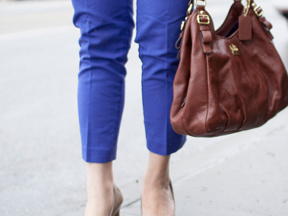 Banana Republic sweater | LOFT pants | Merona pumps | Coach purse | www.shoppingmycloset.com