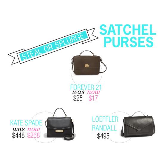 #forever21 #katespade #loefflerrandall satchel purses | www.shoppingmycloset.com