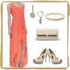 #BCBGMAXAZRIA coral dress | #nadri drop earrings | #michaelkors pave bracelet | #DIANEvonFURSTENBERG studded clutch | #badgleymischka peep toe pumps | www.shoppingmycloset.com
