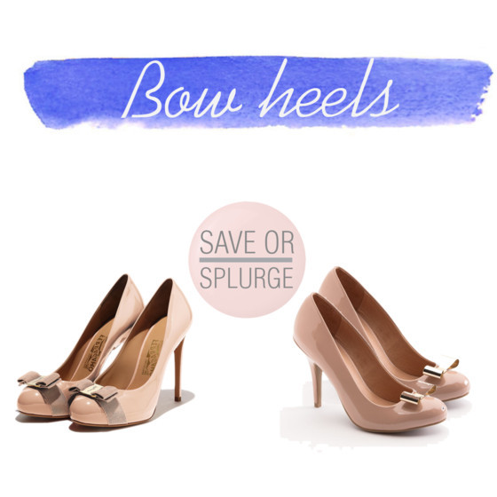 Blush pink bow heels from @ferragamo heels | @laurenconrad via @kohls | www.shoppingmycloset.com