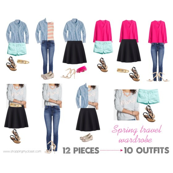 Packing lightly while maximizing the number of outfits   www.shoppingmycloset.com