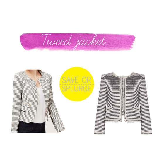 Save or splurge: tweed jacket | www.shoppingmycloset.com