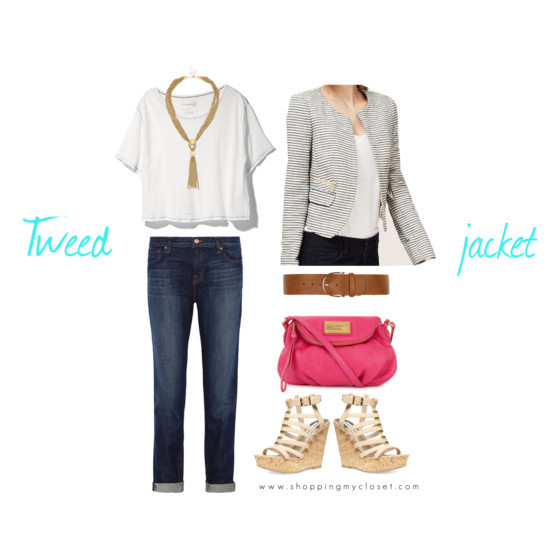 Downtown look for a tweed jacket @loft | www.shoppingmycloset.com
