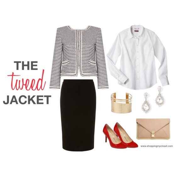 Professional look for a tweed jacket @alice_olivia | www.shoppingmycloset.com