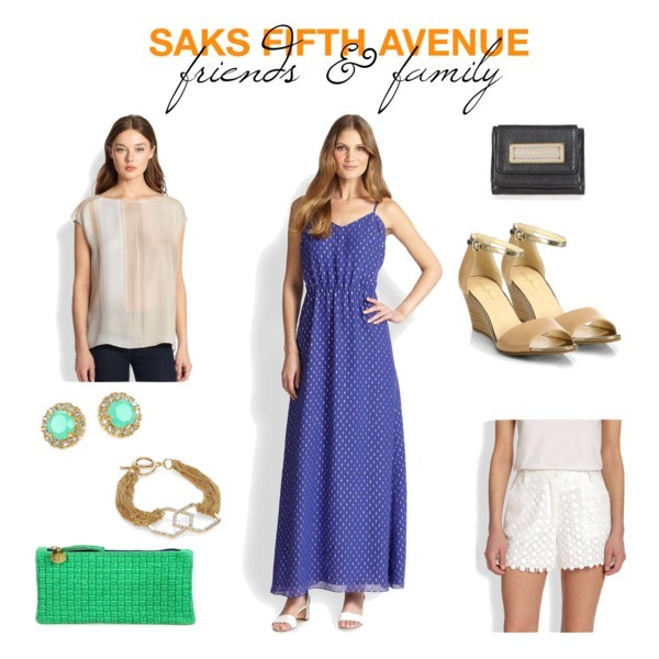 @saks #saks friends & family picks | www.shoppingmycloset.com