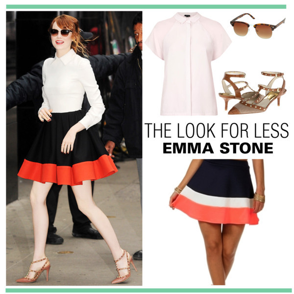 Emma Stone's look for less | www.shoppingmycloset.com