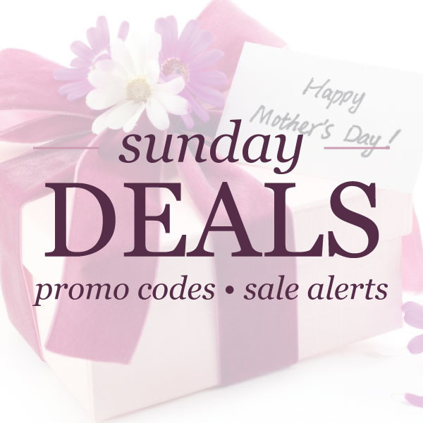 Sunday deals : promo codes & sale alerts | www.shoppingmycloset.com