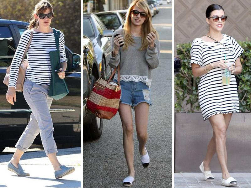 Celebrities wearing espadrille flats | www.shoppingmycloset.com