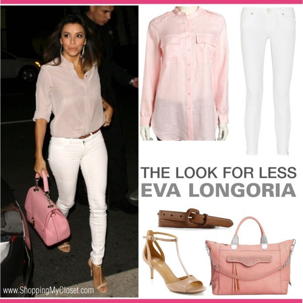 The look for less: Eva Longoria | www.shoppingmycloset.com