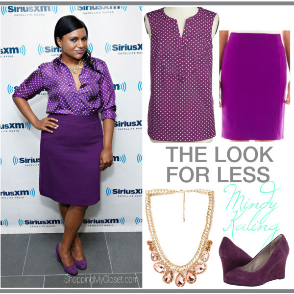 The look for less: Mindy Kaling| www.shoppingmycloset.com