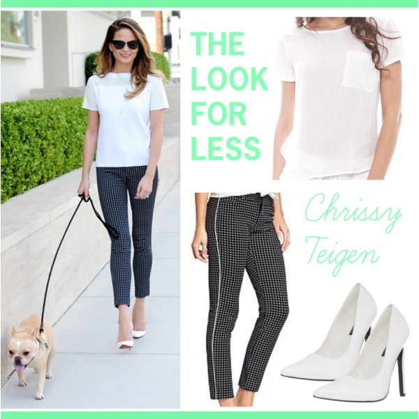 The look for less: Chrissy Teigen | www.shoppingmycloset.com