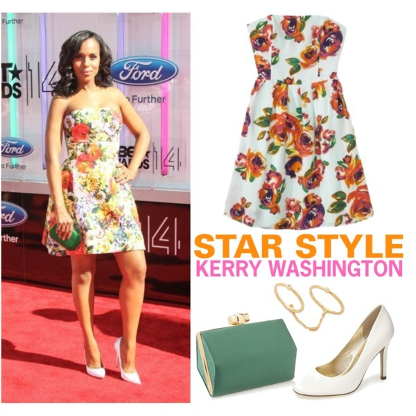 Star style: Kerry Washington (BET Awards 2014) | www.shoppingmycloset.com