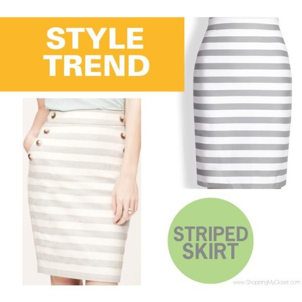 Style trend: stripe skirt | www.shoppingmycloset.com