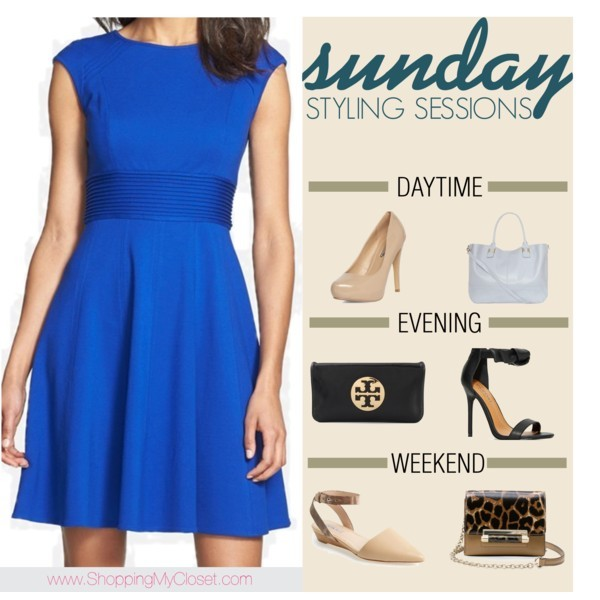 Blue dress styled 3 ways | www.shoppingmycloest.com
