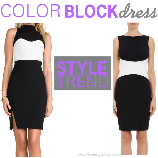 Style trend: colorblock dress | www.shoppingmycloset.com