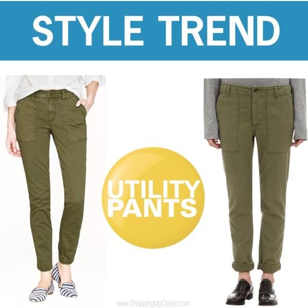 Style trend: utility pants | www.shoppingmycloset.com     @jcrew #jcrew #nlst