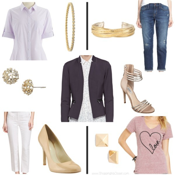 Purple blazer styled two ways | www.shoppingmycloset.com