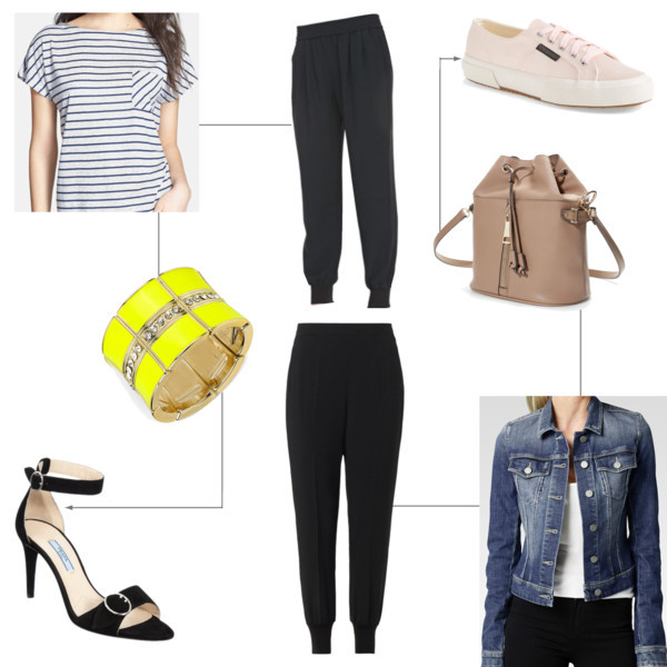 Track pants styled | www.shoppingmycloset.com