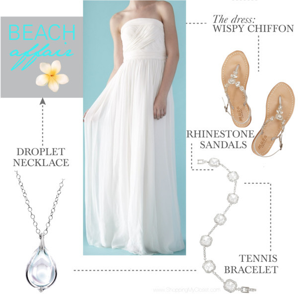 Beach affair wedding | www.shoppingmycloset.com     @loverly #loverly