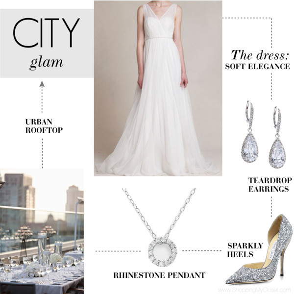 City glam wedding | www.shoppingmycloset.com     @loverly #loverly