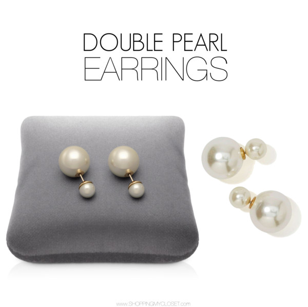 Style trend: double pearl earrings | www.shoppingmycloset.com     @dior #dior @nastygal #nastygal