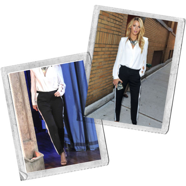 Star style: Blake Liveley in black and white outfit | www.shoppingmycloset.com         @lanvin #lanvin @gucci #gucci