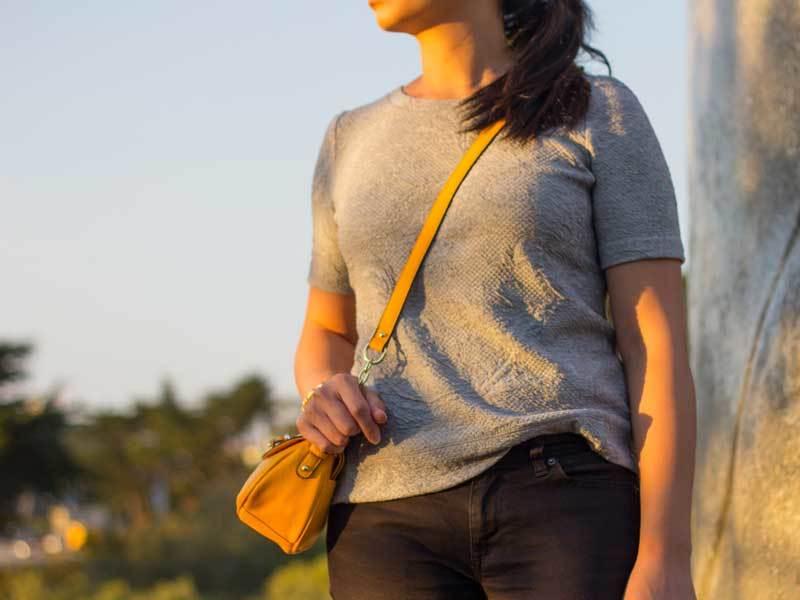 Textured grey sweater top | black denim jeans | gold-embellished sandals | yellow crossbody purse | www.shoppingmycloset.com          @loft #loft @jcrew #jcrew @express #express @target #target