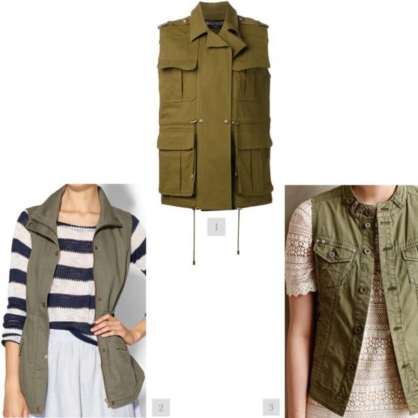 Style trend: military inspired sleeveless vest | www.shoppingmycloset.com