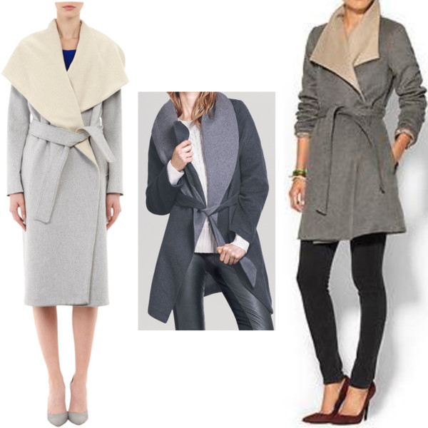 Large lapel wrap coat options on www.shoppingmycloset.com