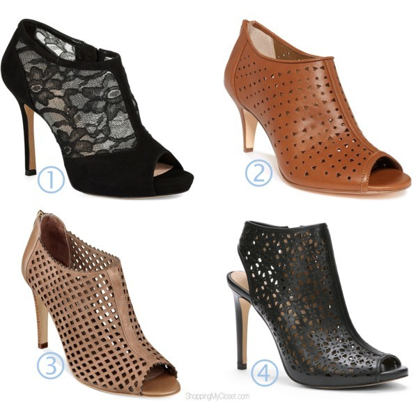 Style trend: open-toe ankle booties / shooties | www.shoppingmycloset.com