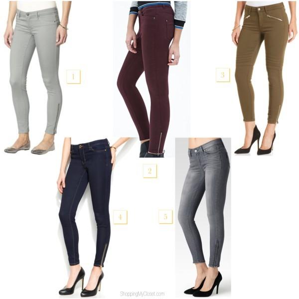 Style trend: ankle zipper denim jeans | www.shoppingmycloset.com         @target #target @forever21 #forever21 @michaelskors #michaelkors @paigedenim #paigedenim @joesjeans #joesjeans
