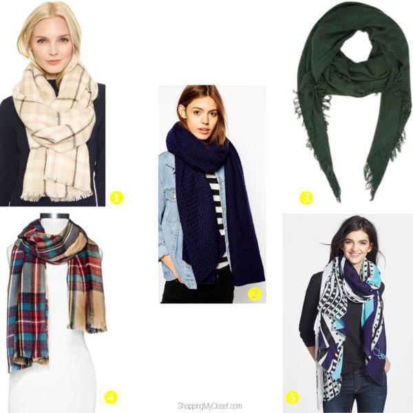 Style trend: oversized blanket scarf | www.shoppingmycloset.com