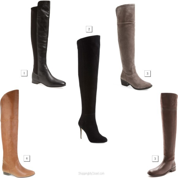 Star style: OTK boots, over-the-knee boots | www.shoppingmycloset.com