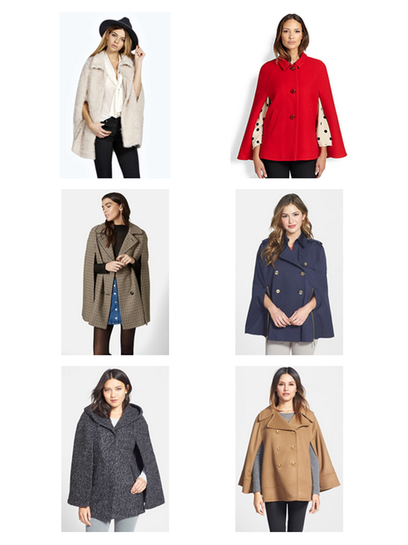 Style trend: cape coats | www.shoppingmycloset.com