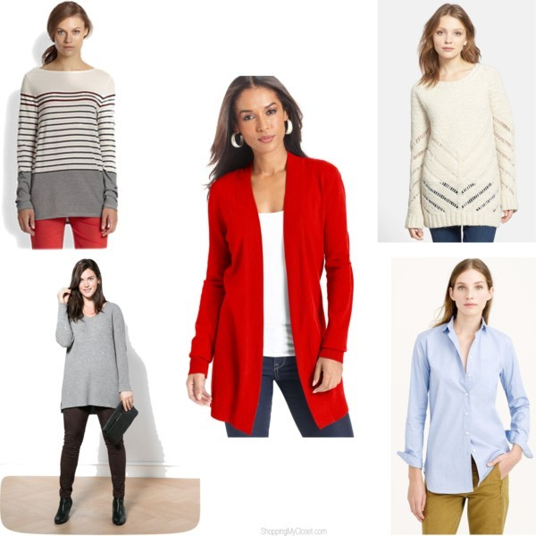 Style trend: great length shirts & sweaters | www.shoppingmycloset.com