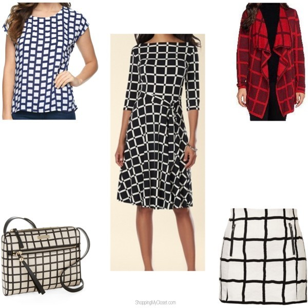Star style: windowpane pattern | www.shoppingmycloset.com