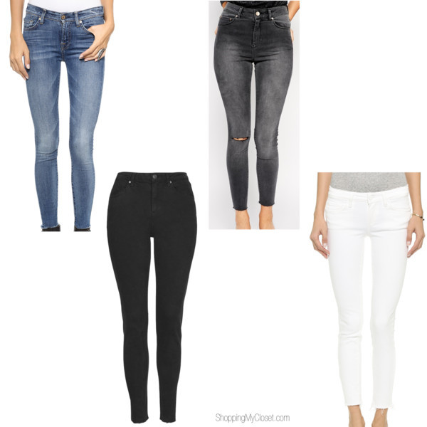 Style trend: raw hem denim | www.shoppingmycloset.com