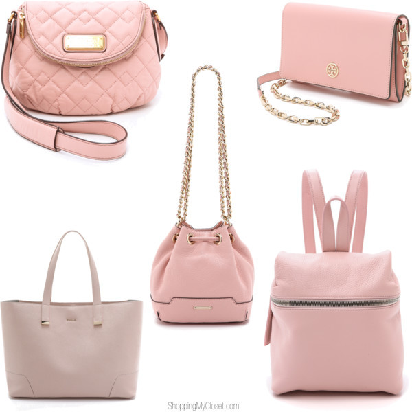 Blush pink purses | Spring | www.shoppingmycloset.com