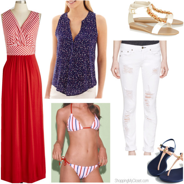 Patriotic / 4th of July outfit ideas | www.shoppingmycloset.com