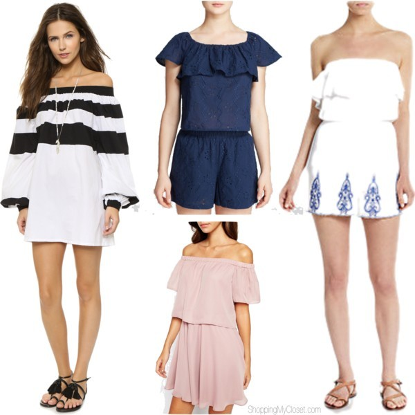 Off Shoulder Tops Dresses Rompers Www Pingmycloset