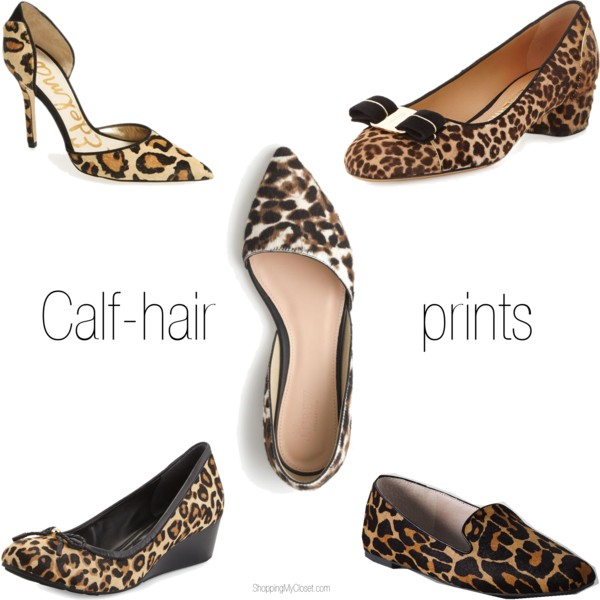 Calf-hair / leopard print shoe picks @ www.shoppingmycloset.com