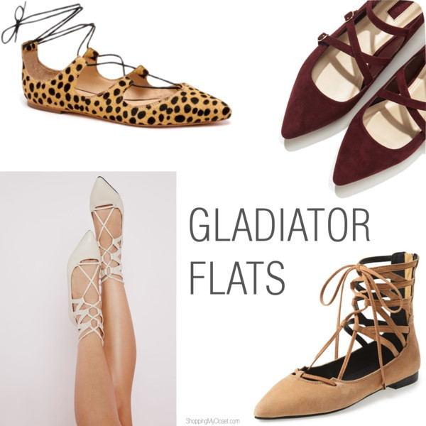 Gladiator flats (lace up flats) | www.shoppingmycloset.com