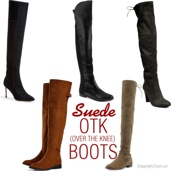 Suede over the knee boots | www.shoppingmycloset.com