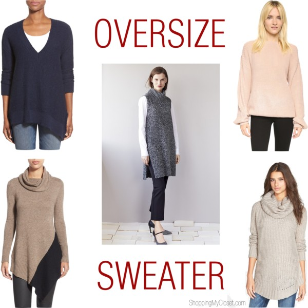 Oversize sweaters | see all the picks at www.shoppingmycloset.com