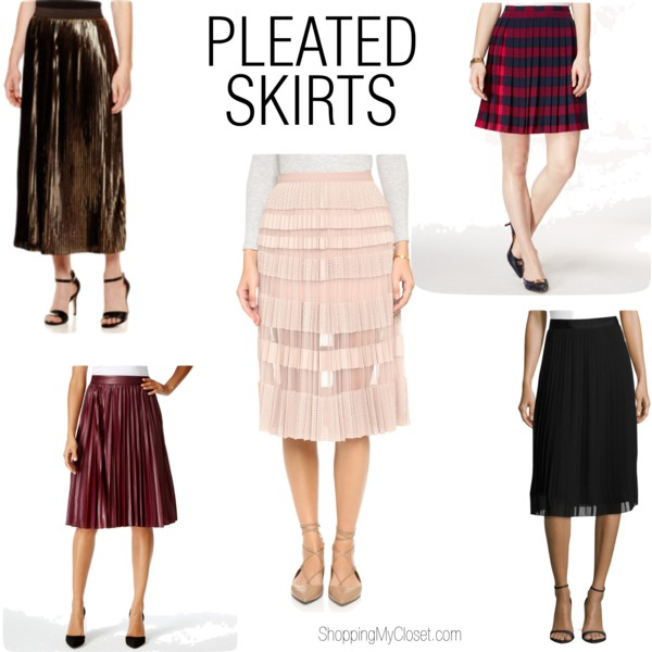 Pleated skirt picks @ www.shoppingmycloset.com