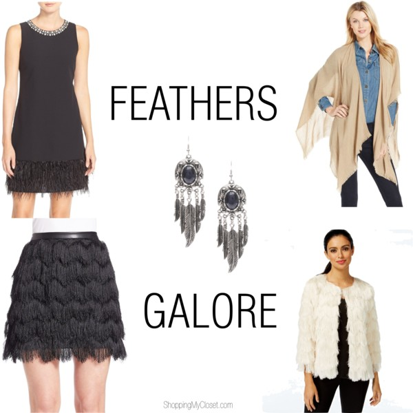 Feather trend | more on www.shoppingmycloset.com