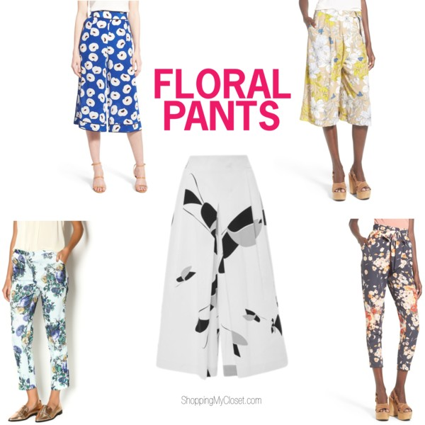Floral pants - see all the picks at www.shoppingmycloset.com