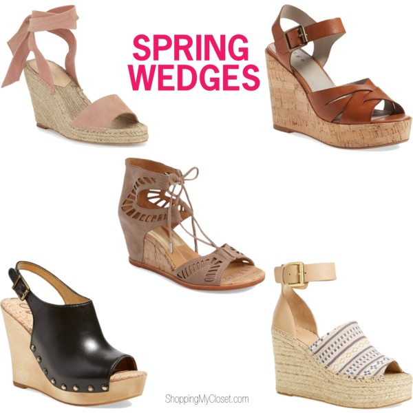 Wedge sandals | see all the picks at www.shoppingmycloset.com