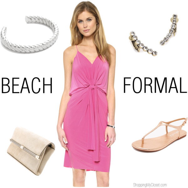 Beach formal wedding guest attire | see all the details at www.shoppingmycloset.com